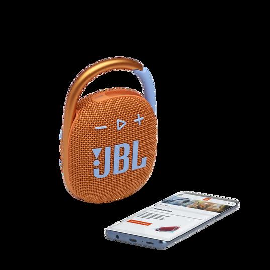 JBL CLIP 4 - Orange - Ultra-portable Waterproof Speaker - Detailshot 1