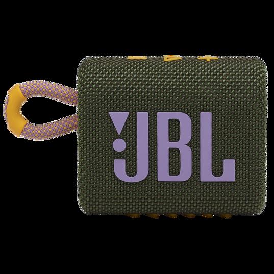 JBL GO 3 - Green - Portable Waterproof Speaker - Front