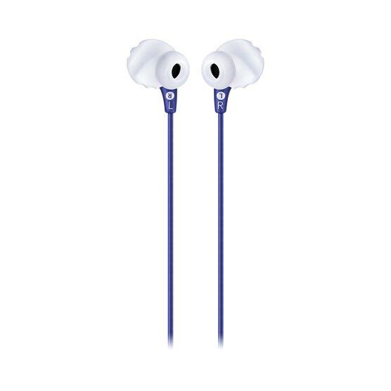 JBL Endurance RUN - Blue - Sweatproof Wired Sport In-Ear Headphones - Back