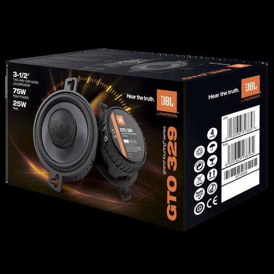 """GTO329 - Black - 75-Watt, Two-Way 3-1/2"""" Speaker System - Detailshot 2"""