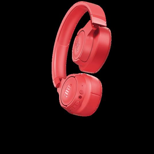JBL TUNE 700BT - Coral Orange - Wireless Over-Ear Headphones - Detailshot 1