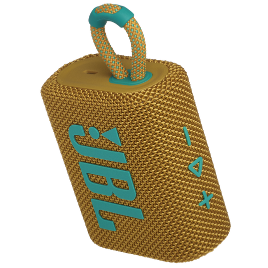 JBL GO 3 - Yellow - Portable Waterproof Speaker - Detailshot 2
