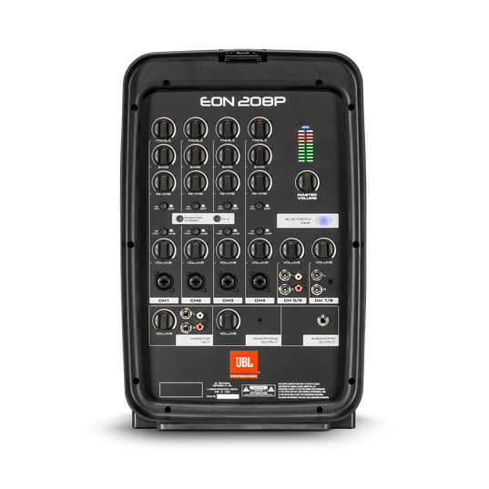 JBL EON208P - Black - Portable 8 in. 2-Way PA with Powered 8-Channel Mixer and Bluetooth® - Detailshot 1