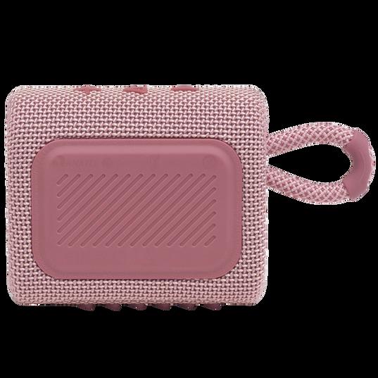 JBL GO 3 - Pink - Portable Waterproof Speaker - Back