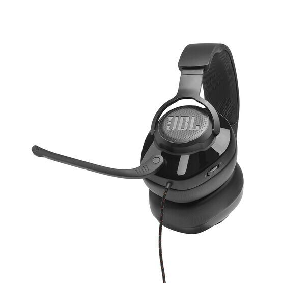 JBL Quantum 200 - Black - Wired over-ear gaming headset with flip-up mic - Detailshot 8