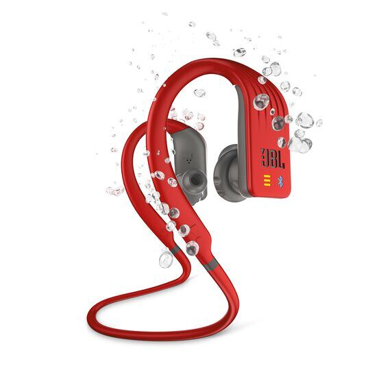 JBL Endurance DIVE - Red - Waterproof Wireless In-Ear Sport Headphones with MP3 Player - Hero