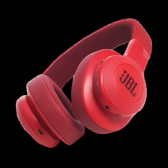 JBL E55BT - Red - Wireless over-ear headphones - Hero
