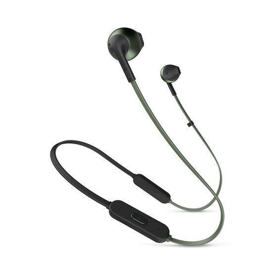 JBL TUNE 205BT - Green - Wireless Earbud headphones - Hero