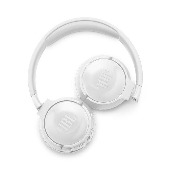 JBL TUNE 600BTNC - White - Wireless, on-ear, active noise-cancelling headphones. - Detailshot 4