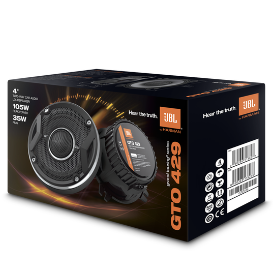 """GTO429 - Black - 105-Watt, Two-Way 4"""" Speaker System - Detailshot 3"""