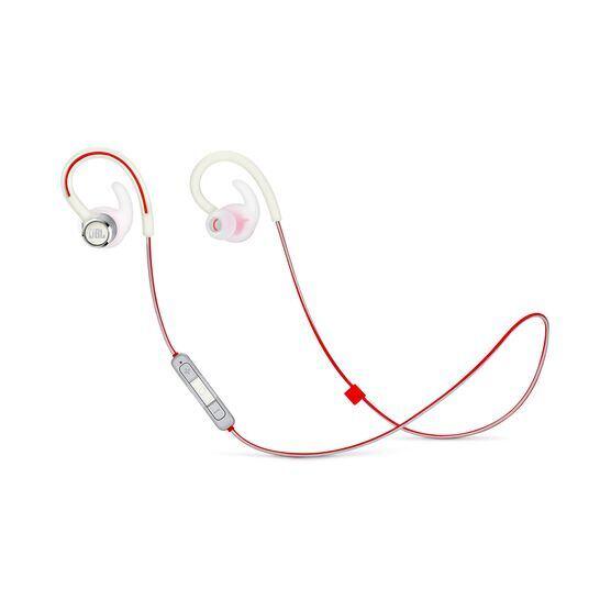 JBL Reflect Contour 2 - White - Secure fit Wireless Sport Headphones - Hero