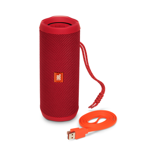 JBL Flip 4 - Red - A full-featured waterproof portable Bluetooth speaker with surprisingly powerful sound. - Detailshot 1