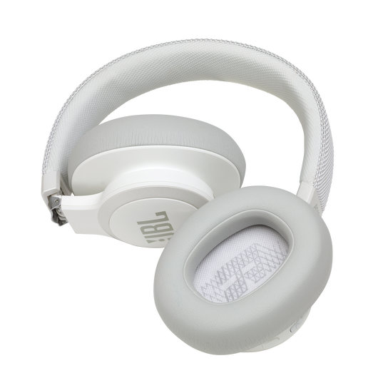 JBL LIVE 650BTNC - White - Wireless Over-Ear Noise-Cancelling Headphones - Detailshot 7