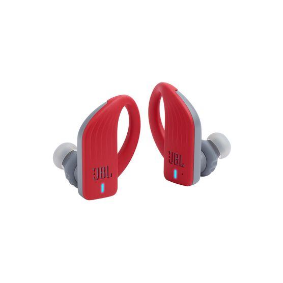 JBL Endurance PEAK - Red - Waterproof True Wireless In-Ear Sport Headphones - Detailshot 3
