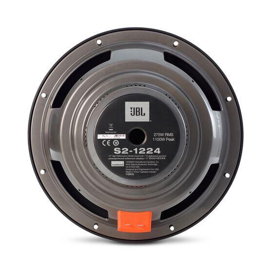 """S2-1224 - Black - 12"""" (300mm) SSI car audio subwoofer - Back"""