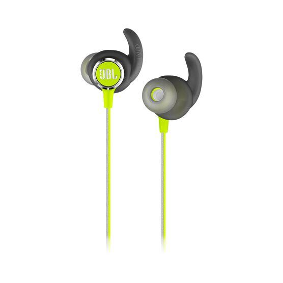 JBL REFLECT MINI 2 - Green - Lightweight Wireless Sport Headphones - Detailshot 1