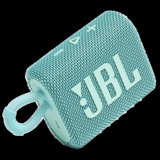 JBL Go 3 - Teal - Portable Waterproof Speaker - Detailshot 1