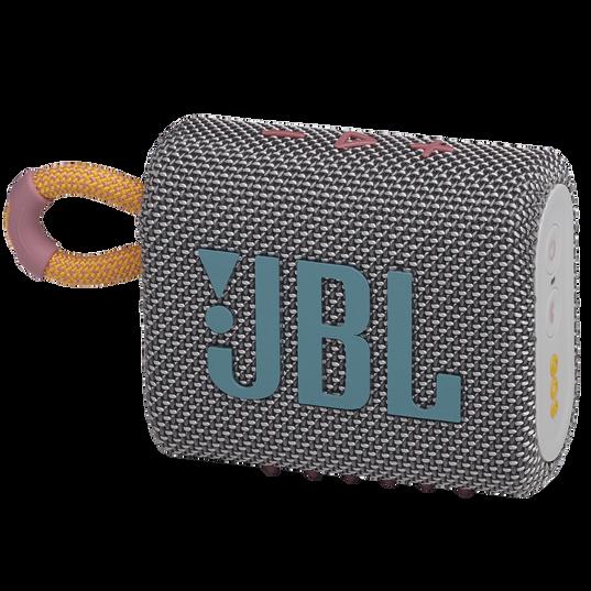 JBL Go 3 - Grey - Portable Waterproof Speaker - Hero