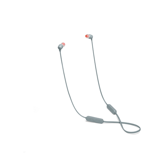 JBL TUNE 115BT - Grey - Wireless In-Ear headphones - Hero