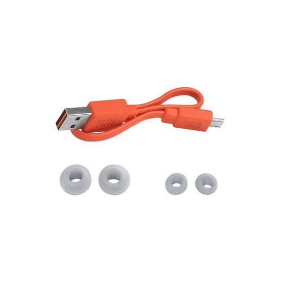 JBL Endurance PEAK - Red - Waterproof True Wireless In-Ear Sport Headphones - Detailshot 4