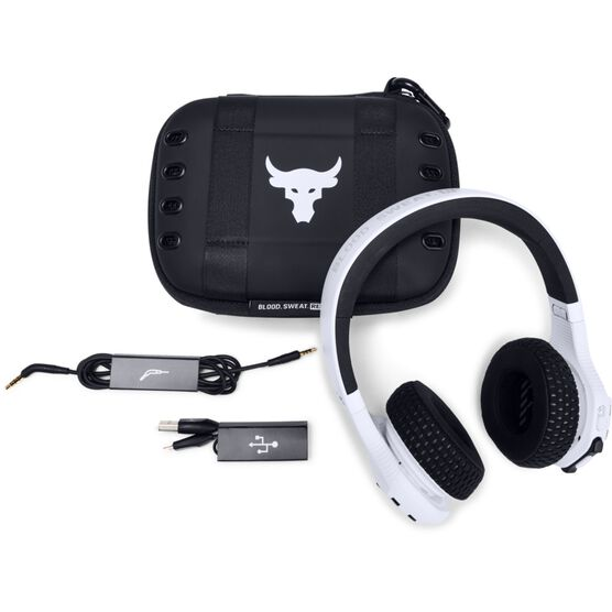 UA Sport Wireless Train Project Rock – Engineered by JBL - White - On-ear sport Headphones - Detailshot 2