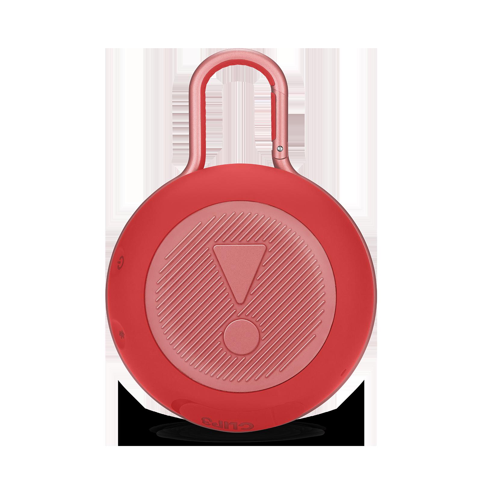 JBL CLIP 3 - Fiesta Red - Portable Bluetooth® speaker - Back