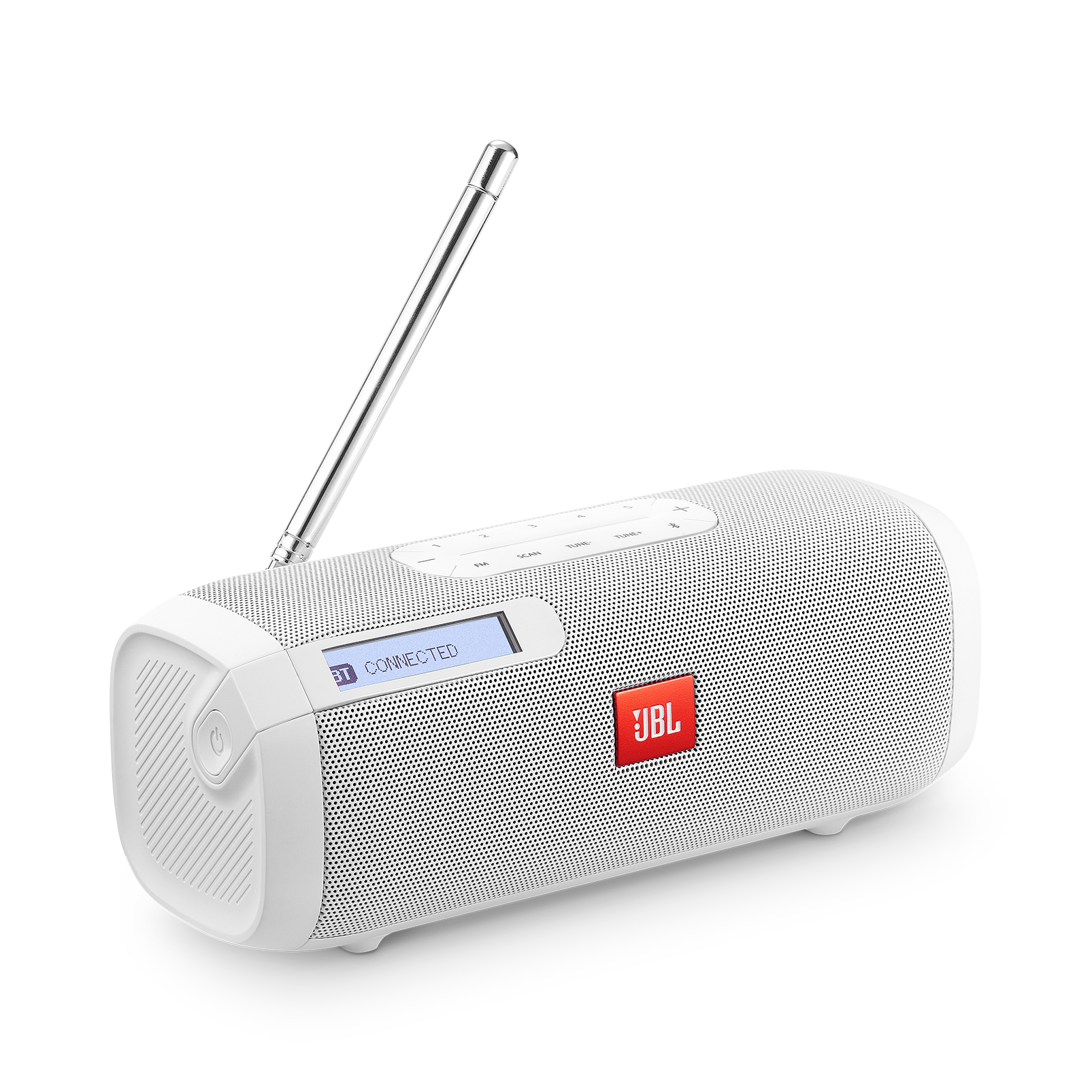 JBL Tuner FM - White - Portable Bluetooth Speaker with FM radio - Hero