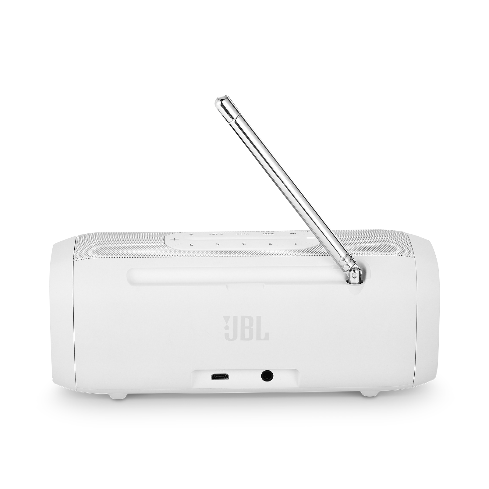 JBL Tuner FM - White - Portable Bluetooth Speaker with FM radio - Back