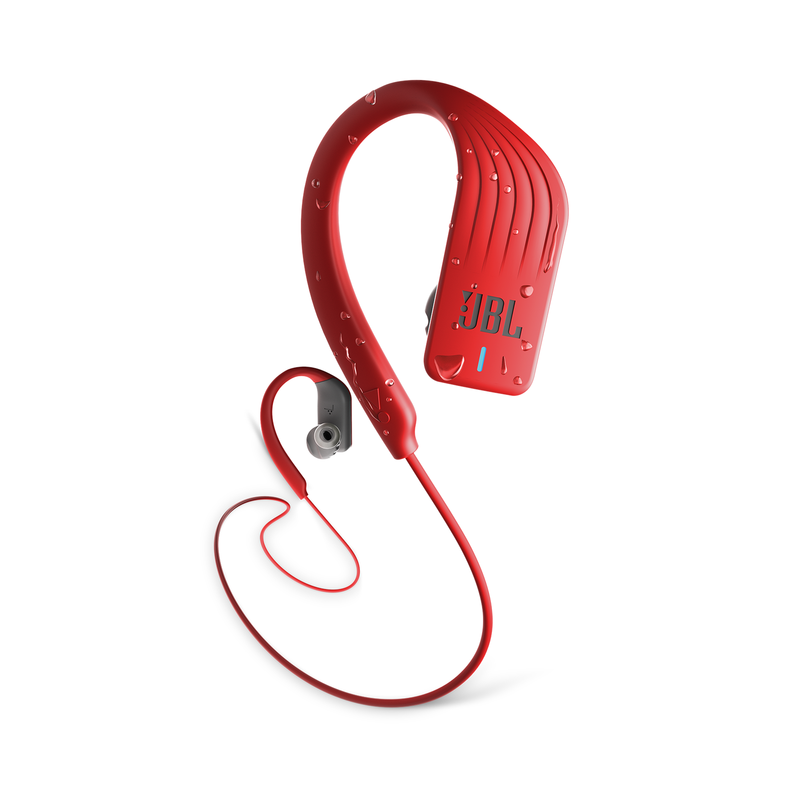 JBL Endurance SPRINT - Red - Waterproof Wireless In-Ear Sport Headphones - Hero
