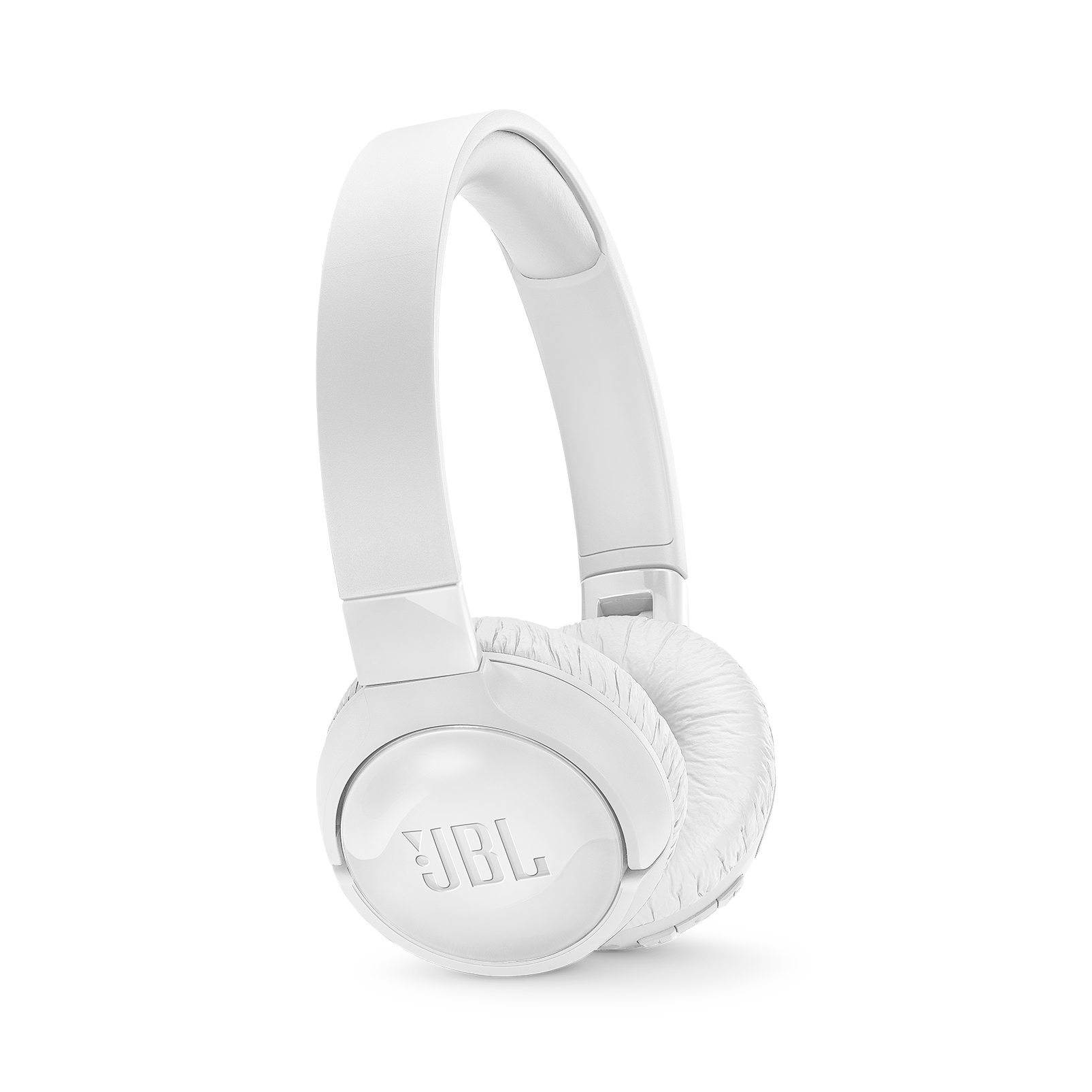 JBL TUNE 600BTNC - White - Wireless, on-ear, active noise-cancelling headphones. - Hero