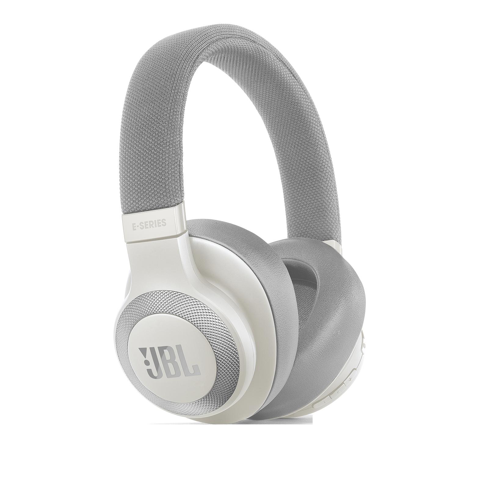 JBL E65BTNC - White - Wireless over-ear noise-cancelling headphones - Hero