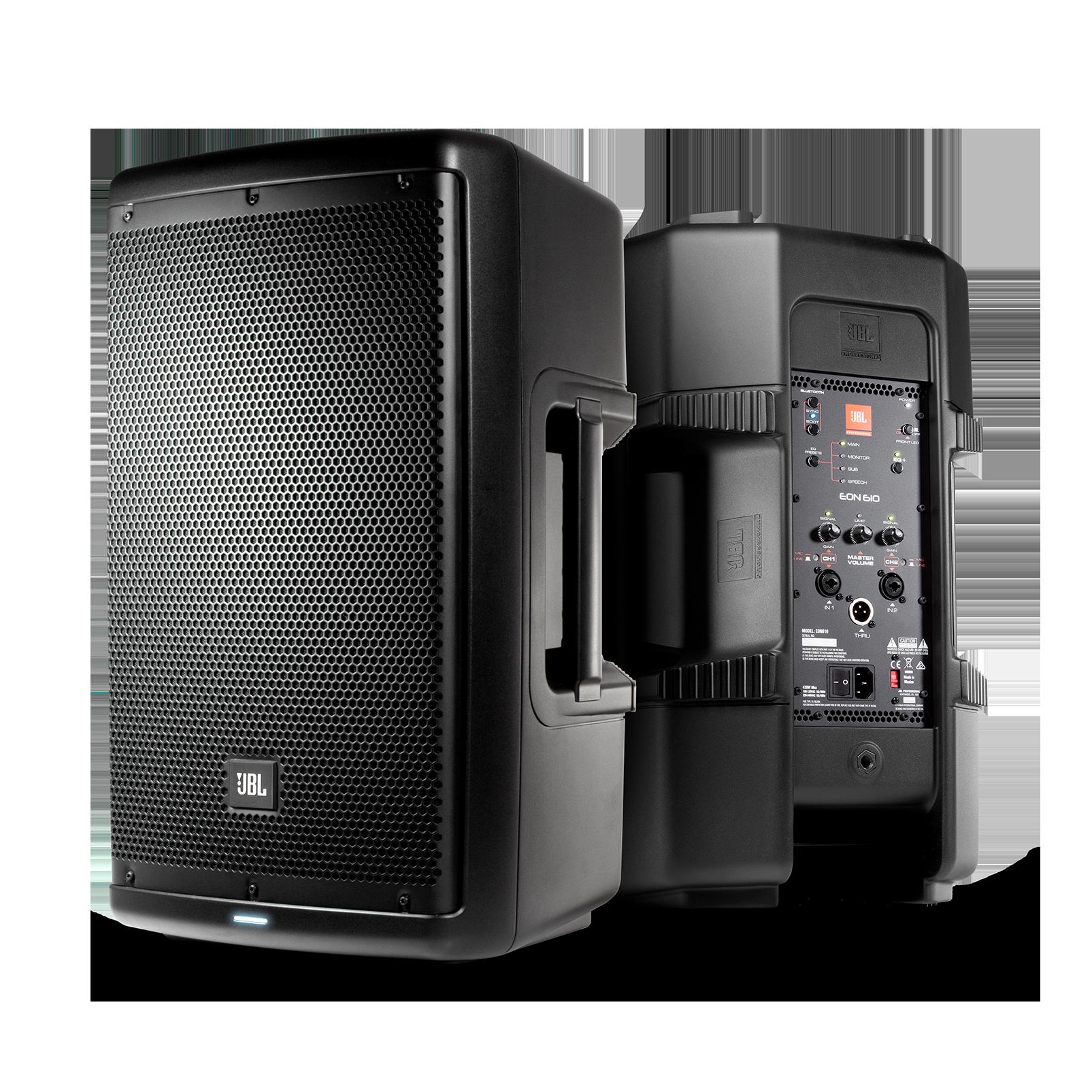 "JBL EON610 - Black - 10"" Two-Way Multipurpose Self-Powered Sound Reinforcement - Hero"