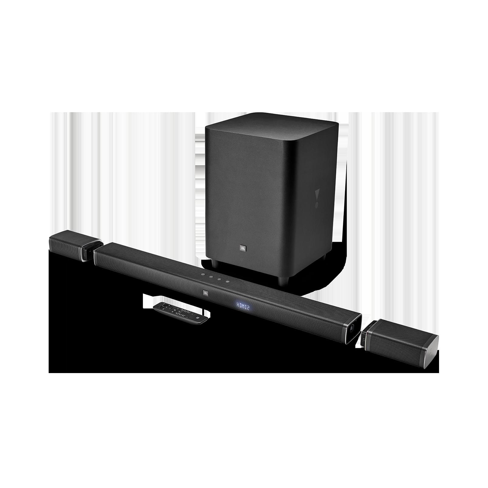 JBL Bar 5.1 - Black - 5.1-Channel 4K Ultra HD Soundbar with True Wireless Surround Speakers - Hero