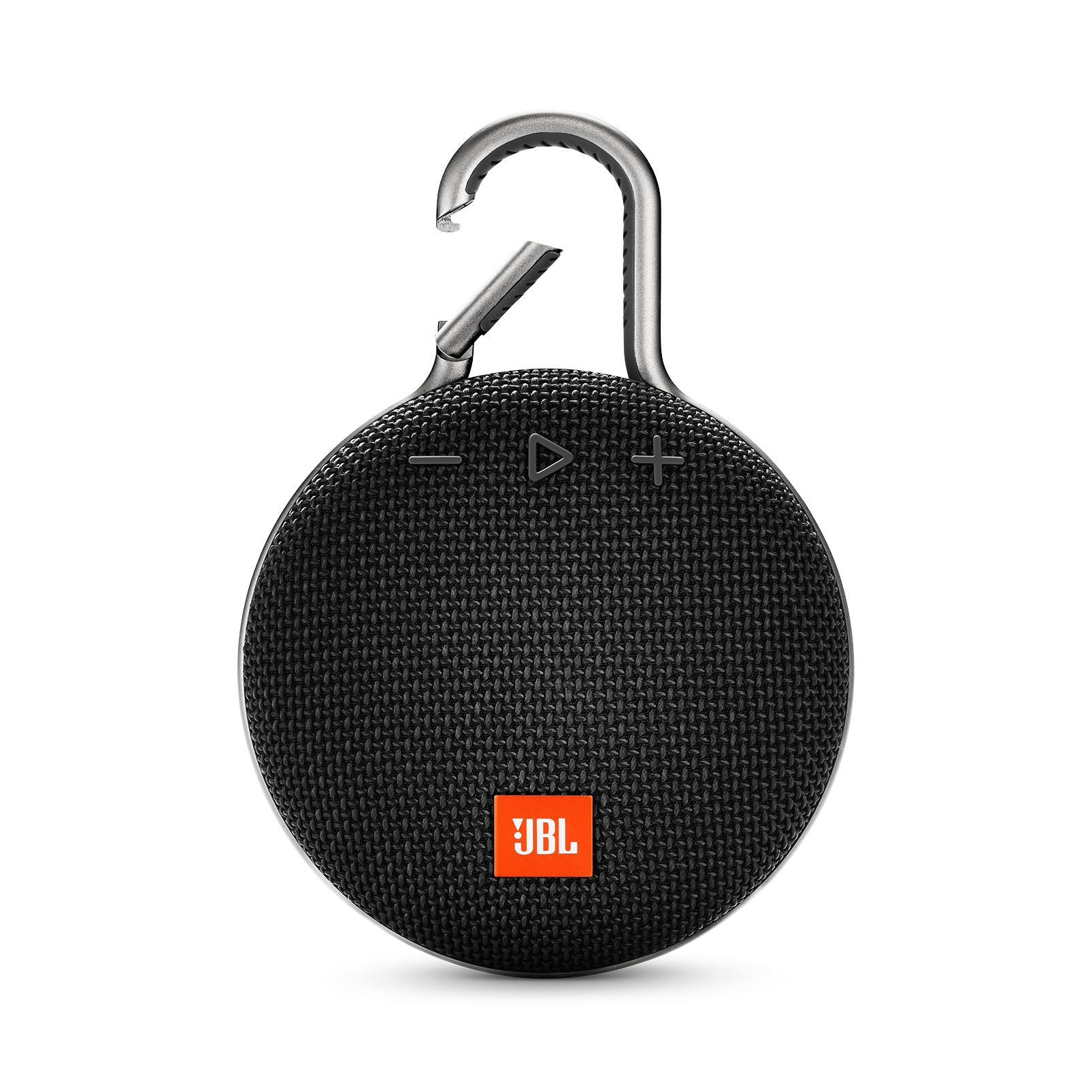 JBL CLIP 3 - Midnight Black - Portable Bluetooth® speaker - Front